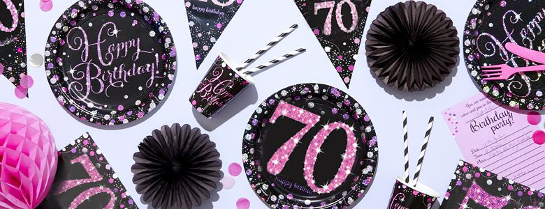 Pink Celebration 70th Party Supplies