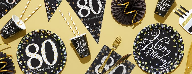 Sparkling Celebration 80th Party Supplies