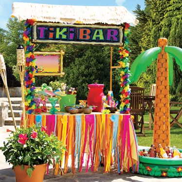 Tiki Bar Birthday Cake
