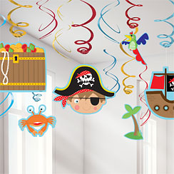 Little Pirate Hanging Decorations - Swirls