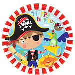Little Pirate Plates - 23cm Paper Party Plates