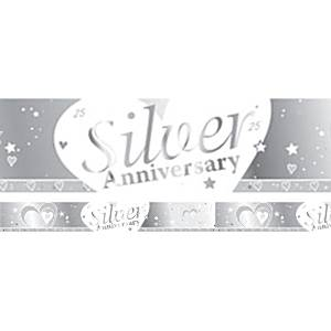 25th Silver Wedding Anniversary Banner - 2.7m