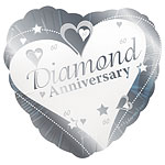 "Loving Hearts Diamond Anniversary Balloon - 18"" Foil"