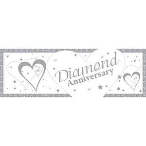 60th Diamond Anniversary Giant Banner - 1.5m