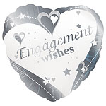 "Loving Hearts Engagement Wishes Balloon - 18"" Foil"