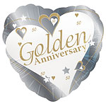 Golden Anniversary 18'' Foil Balloon