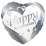 "Loving Hearts Happy Anniversary Balloon - 18"" Foil"