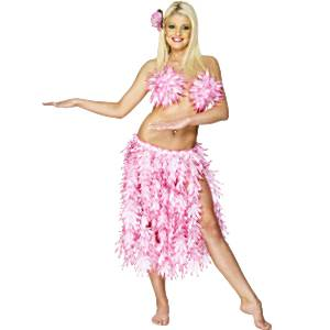 Luau Pink Hawaiian Leaf Skirt - STD