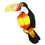 Toucan Honeycomb Hanging Decoration