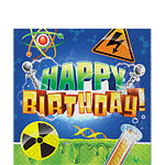 Mad Scientist Happy Birthday Napkins - 2ply Paper