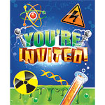 Mad Scientist Invites - Party Invitation Cards