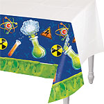 Mad Scientist Plastic Tablecover - 1.4 x 2.6m