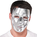 Plain Silver Full Face Mask