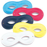 Domino Masquerade Mask (small) - Assorted Colours