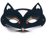 Cat Domino Masquerade Mask