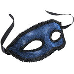 Blue Masquerade Mask with Ribbon