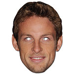 Jenson Button - Celebrity Mask