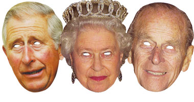 The Queen, Prince Phillip & Prince Charles - Celebrity Mask Pack