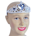 Tiara Silver with Clear Gems