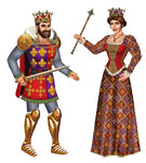 King/Queen Cutout (asst)