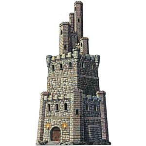 Decorations Jointed Castle Tower Cutout 4ft