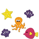 Sea Life Sugar Toppers - Cake Decorations