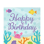 Mermaid Friends Happy Birthday Party Napkins - 2ply Paper