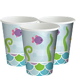 Mermaid Friends Party Cups - 256ml Paper Party Cups