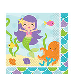 Mermaid Friends Party Napkins - 2ply Paper