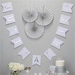 Metallic Perfection 'Just Married' Wedding Bunting - 2.5m