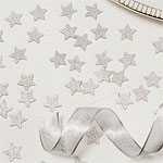 Metallic Perfection Silver Glitter Star Confetti