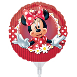 "Minnie Mouse Red Balloon - 9"" Foil"