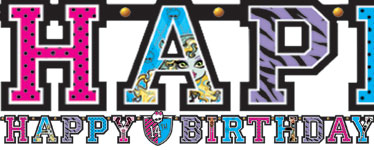 Monster High Banner - 3.2m Add An Age Letter