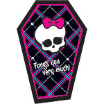 Monster High Party Thank You Cards