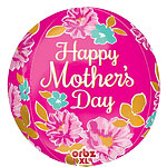 Happy Mothers Day Orbz Balloon - 25""