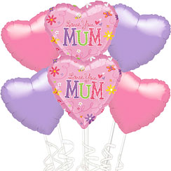 Love You Mum Mother's Day Balloon Kit - SAVE 20%