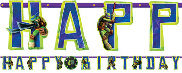 Ninja Turtles Banner - 3.2m Add An Age Letter