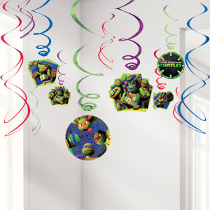 Ninja Turtles Hanging Decorations - 60cm Hanging Swirls