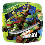 "Ninja Turtles Happy Birthday Balloon - 18"" Foil"