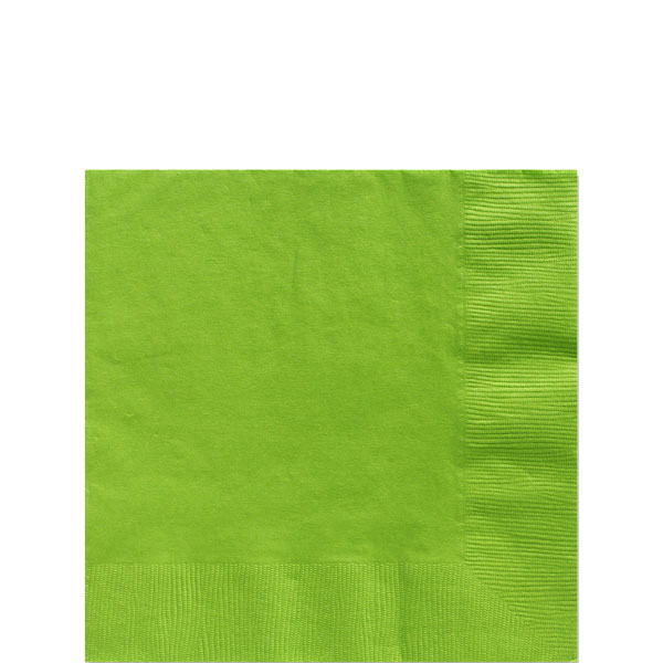 Lime Green Beverage Napkins - 2ply Paper