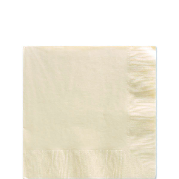 Ivory Beverage Napkins - 2ply Paper
