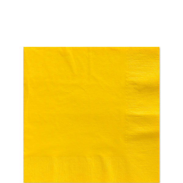 Yellow Beverage Napkins - 2ply Paper