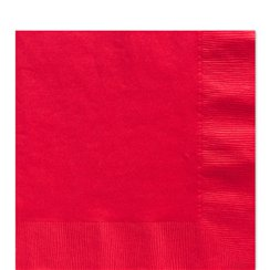 Red Luncheon Napkins - 33cm Square 2ply Paper