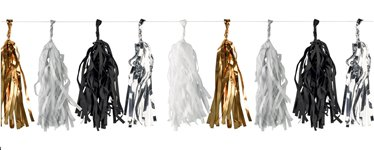 Metallic New Year Tassel Garland - 3m