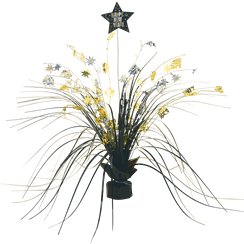 Metallic New Year Spray Centrepiece - 38cm