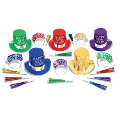 Colourful New Year Party Kit for 10 People