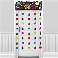 Colourful New Year Door Curtain - 1.9m