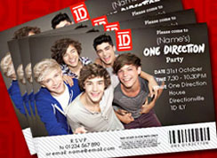 One Direction Invitations
