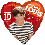 "One Direction Louis Heart Balloon - 18"" Foil"