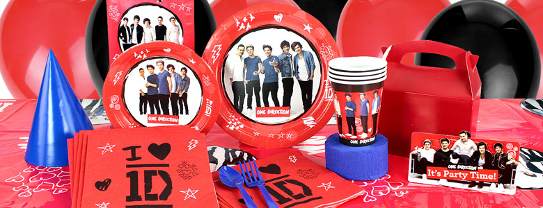 One Direction Party Supplies 1d Partyware Party Delights